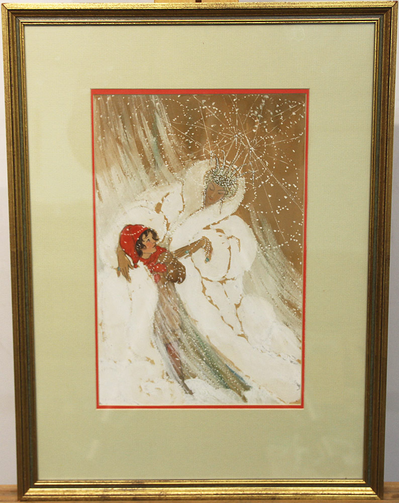 220. Elenore Plaisted Abbott Watercolor Illust., The Snow Queen. $5,900