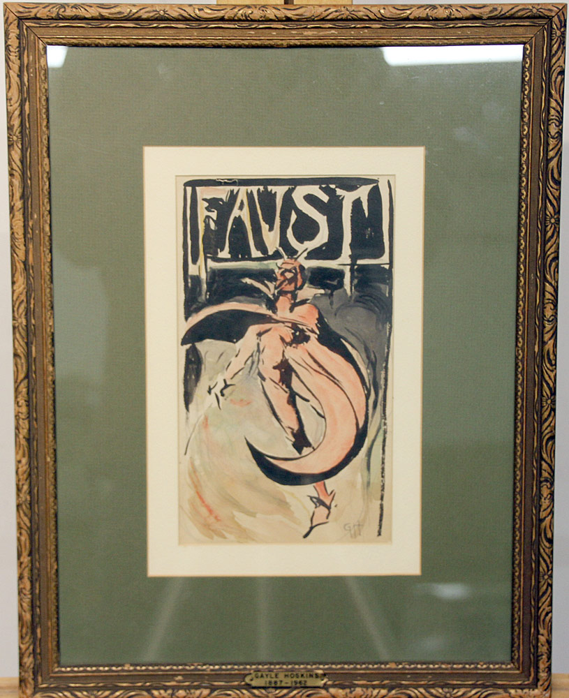 222. Gayle Porter Hoskins Watercolor, Illustration, Faust. $501.50