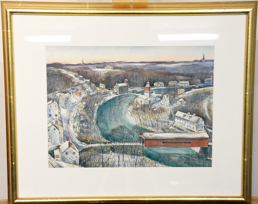 228. James McGlynn Watercolor, Brandywine River. $324.50