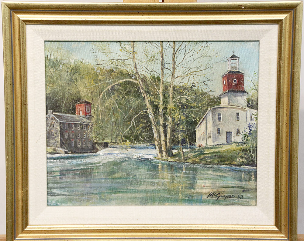 229. James McGlynn Oil/Canvas, Mill on the Brandywine. $531