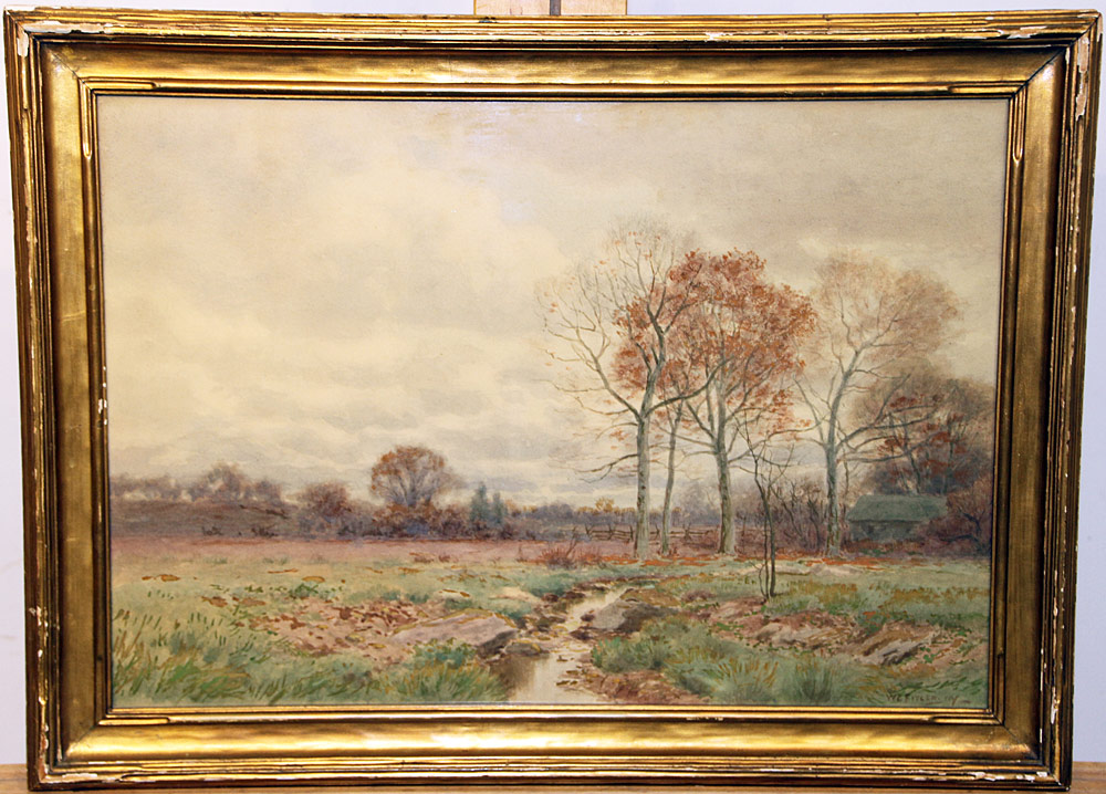 230. William Crothers Fitler Watercolor, Landscape. $153.75