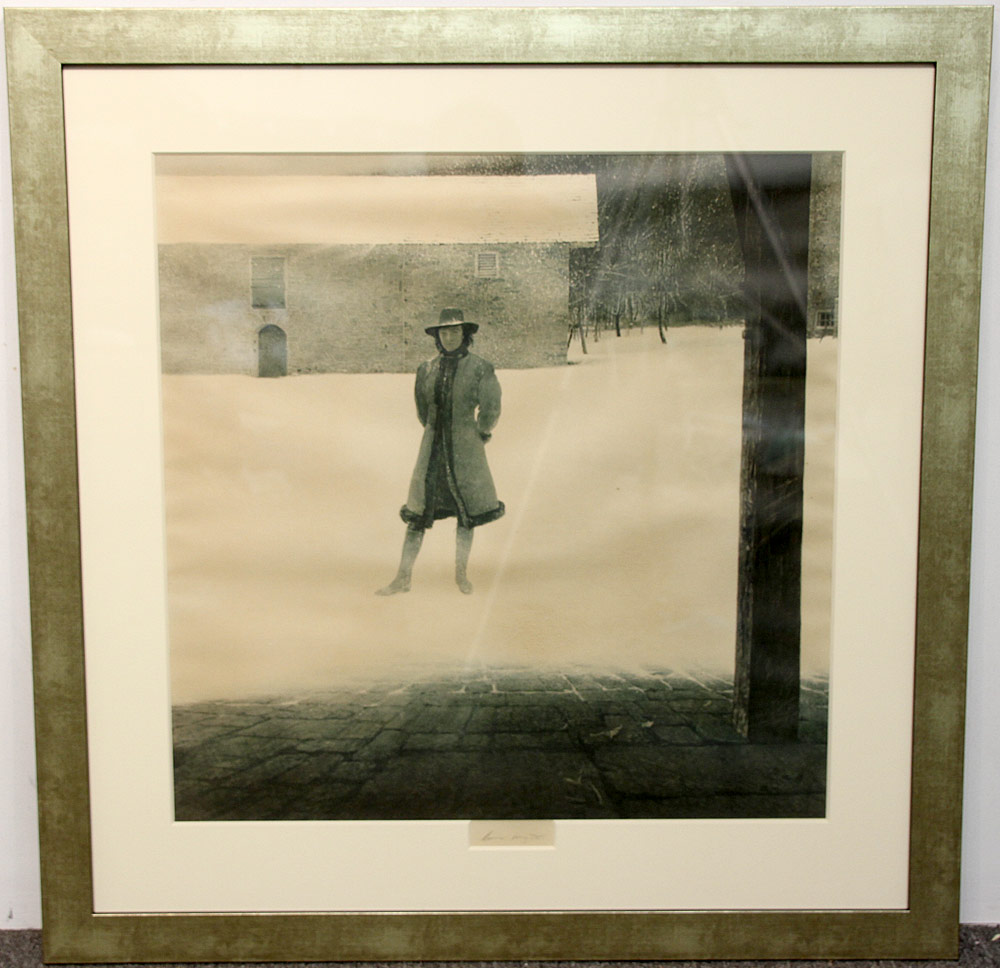238. Signed Andrew Wyeth Print, Outpost. $649