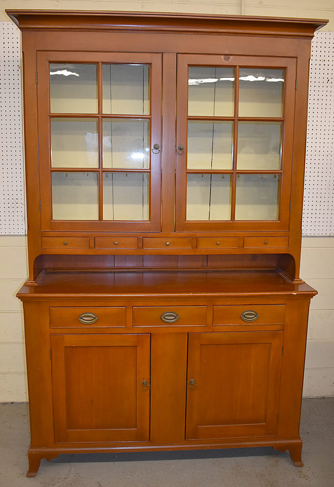 242. Pennsylvania Pine Step-back Dutch Cupboard. $1,062