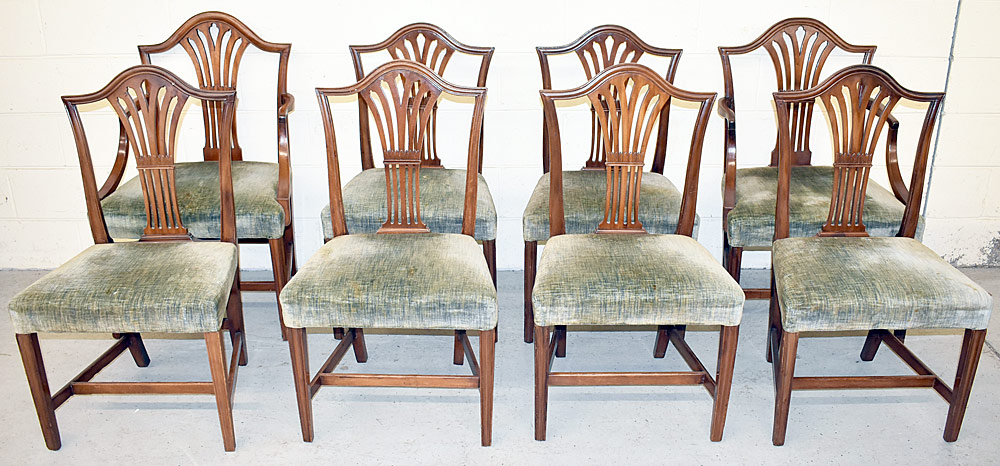 247. Eight Federal Mahogany Dining Chairs. $531