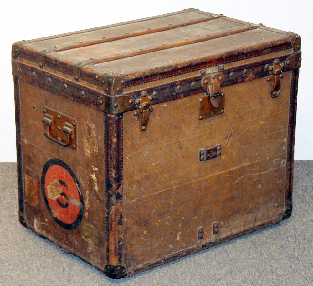 254. Early 20th C. Louis Vuitton Steamer Trunk, #109056. $7,995