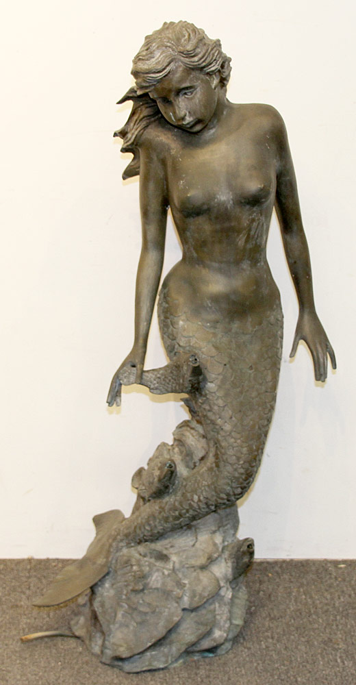 257. Bronze Mermaid Fountain. $1,416