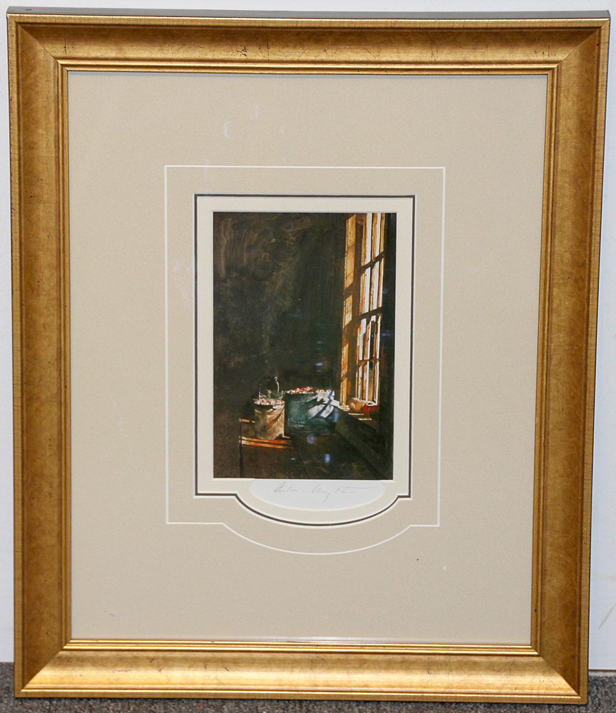 264. Pencil-Signed Andrew Wyeth Print, Cranberries. $184.50