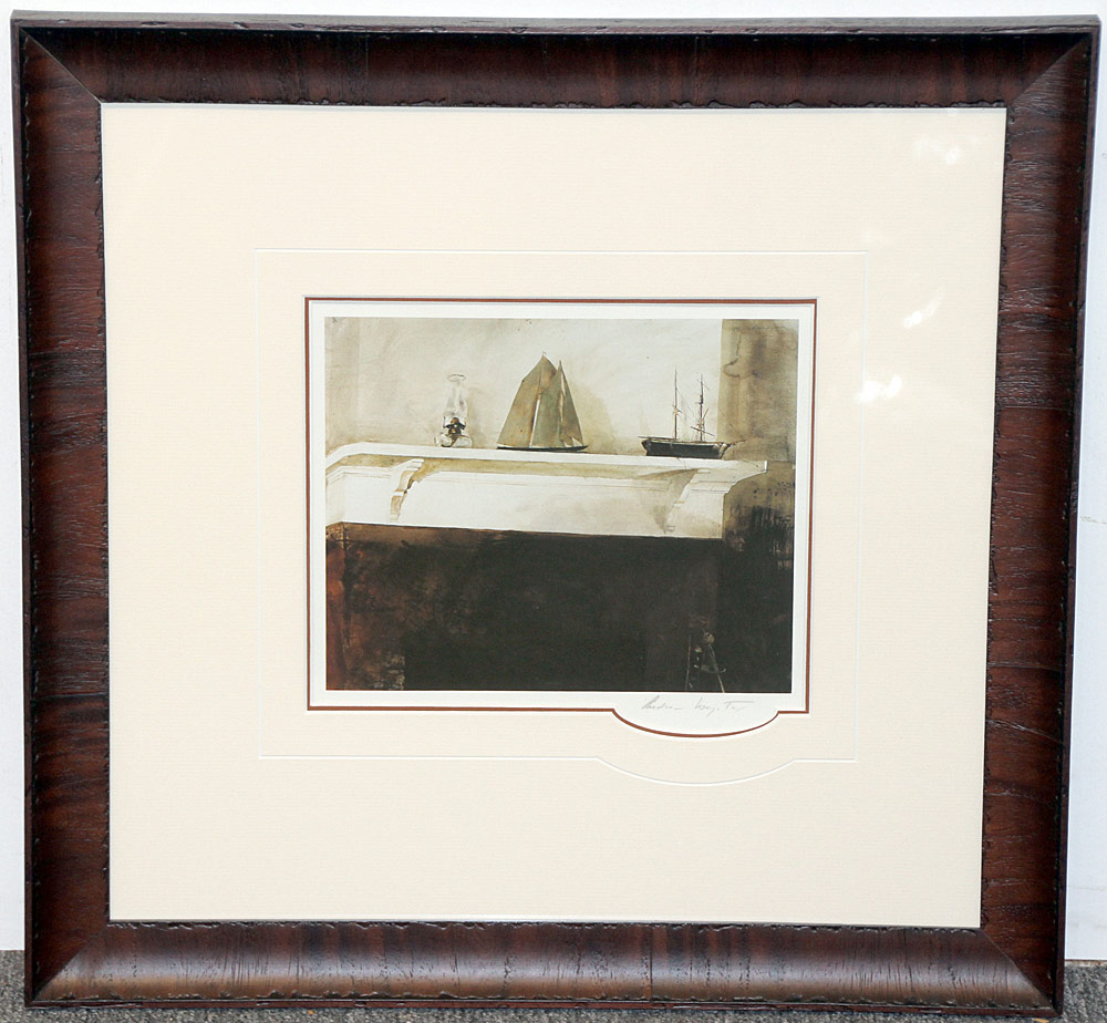 267. Pencil-Signed Andrew Wyeth Print, The Sisters. $265.50
