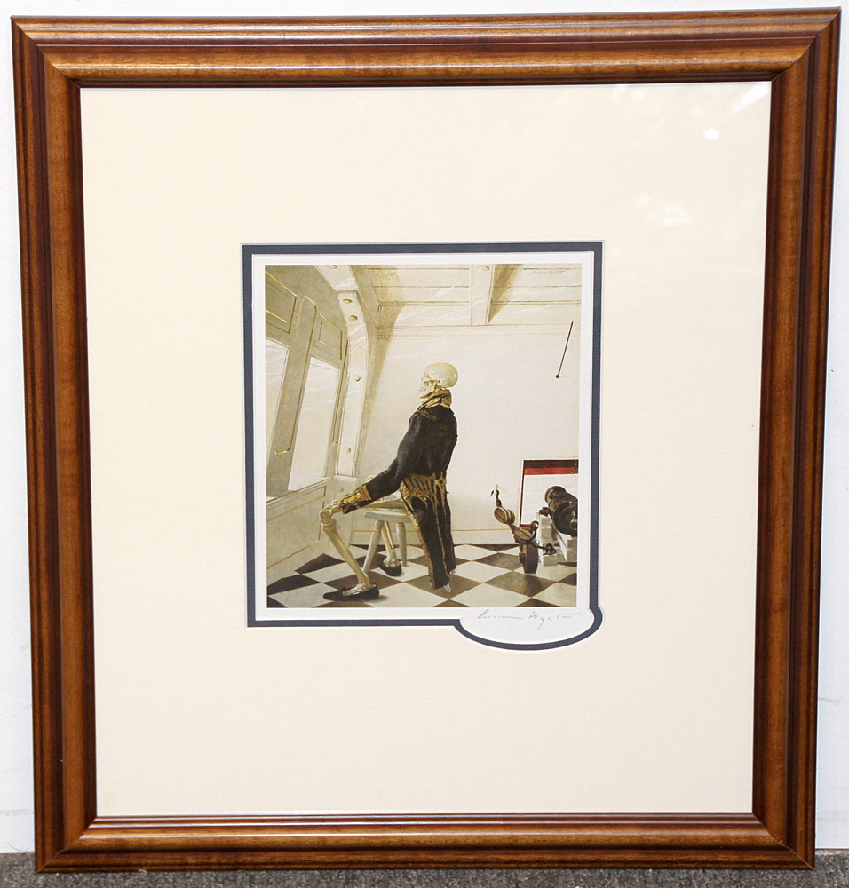 268. Pencil-Signed Andrew Wyeth Print, Dr. Syn. $354