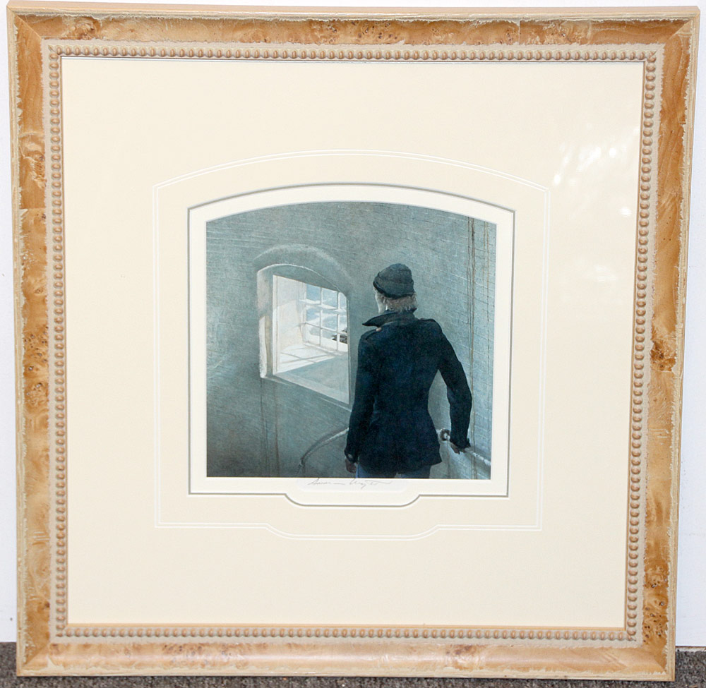 269. Pencil-Signed Andrew Wyeth Print, The Reefer. $265.50