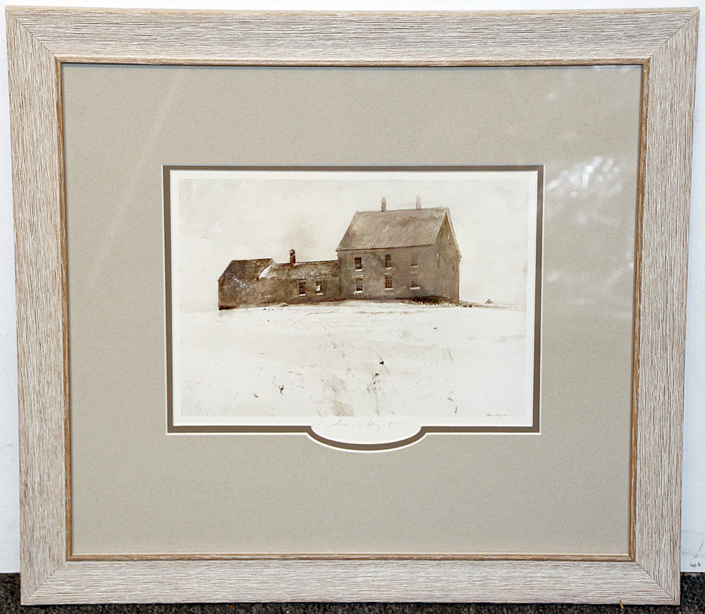272. Pencil-Signed Andrew Wyeth Print, Olson House. $338.25