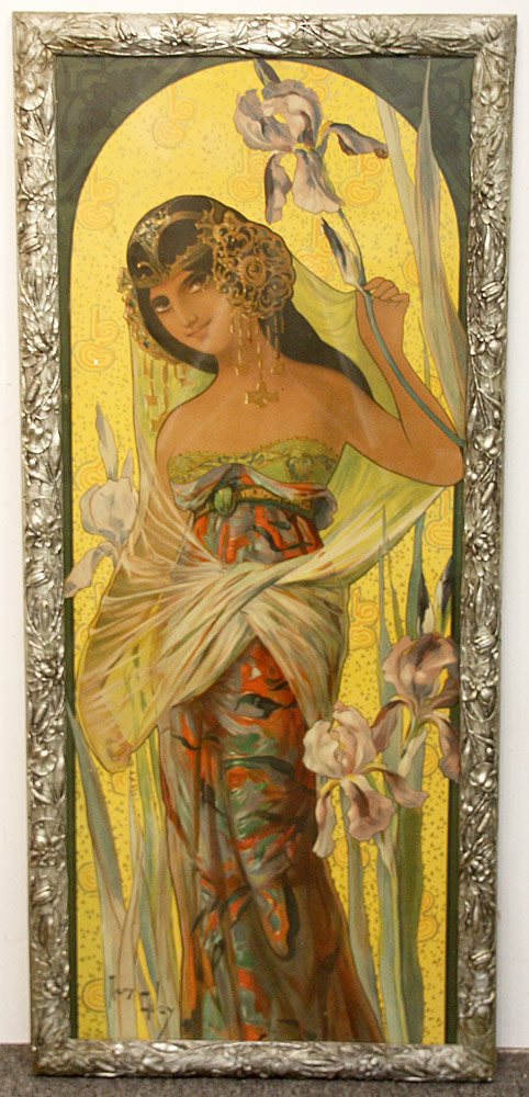280. Mary Golay Color Lithograph, Iris Seduction. $354