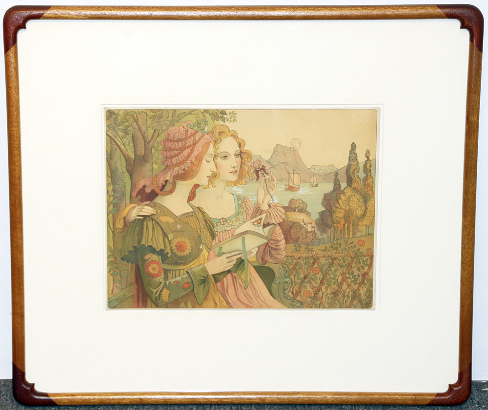 282. Armand Point Color Lithograph, The Fairy Tale. $354