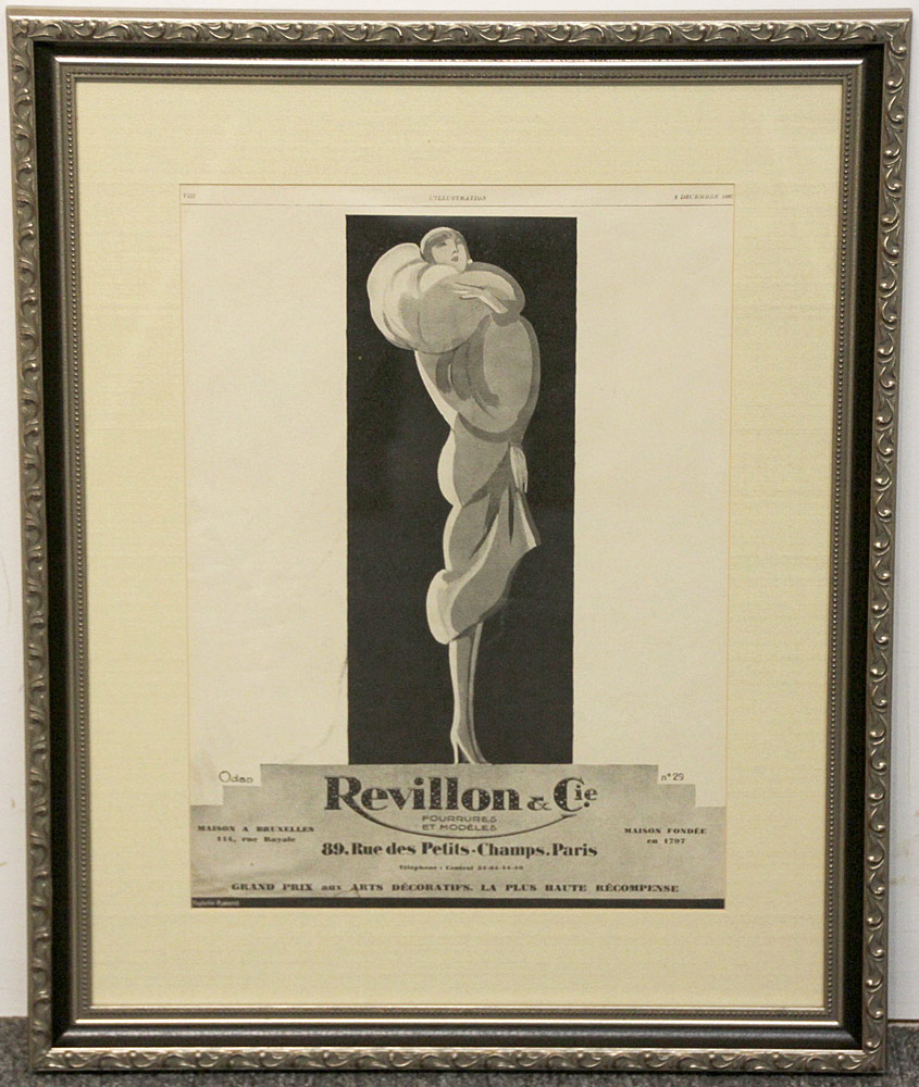 288. Art Deco Advertisement, Revillion & Cie, 1927. $61.50