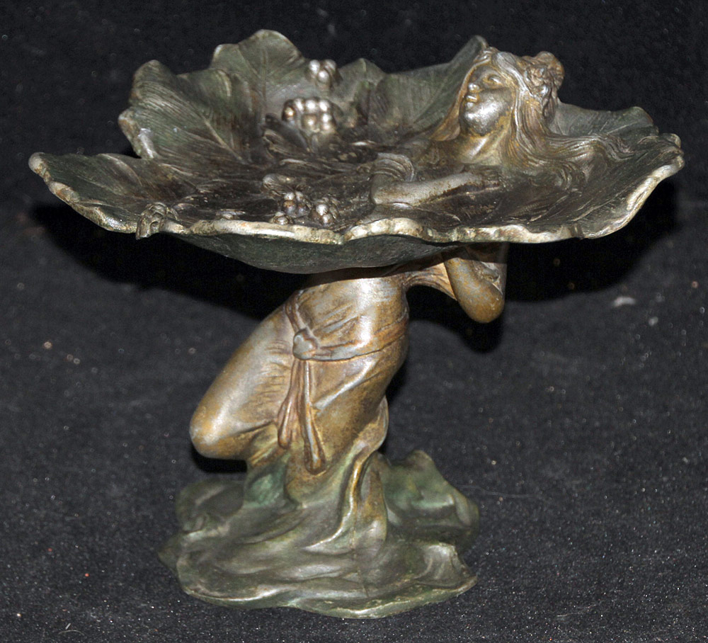 292. Alfred Foretay Art Nouveau Bronze Tray. $147.50