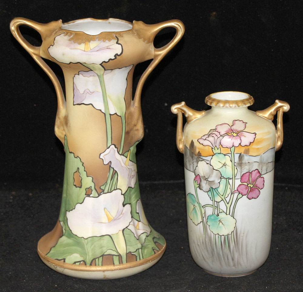 299. Two Nippon Art Nouveau Porcelain Vases. $118