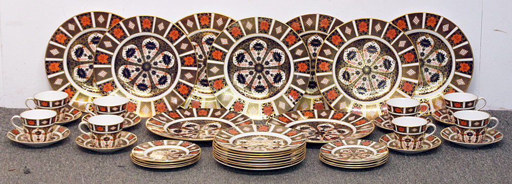 307. Royal Crown Derby Imari Porcelain Tablewares Set. $2,214