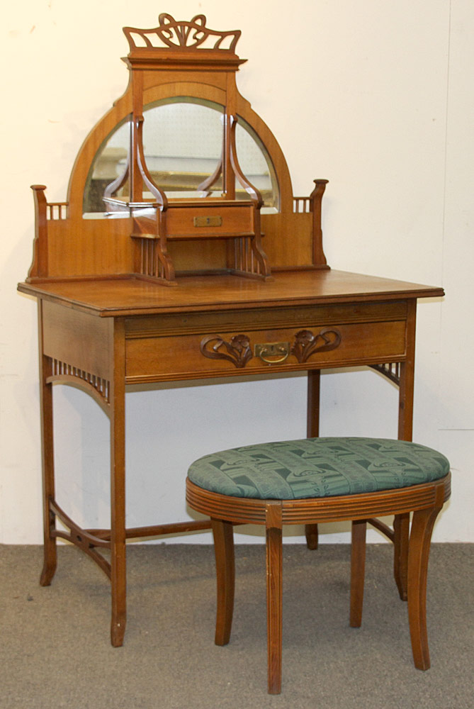 311. Art Nouveau Vanity with Mirror. $413