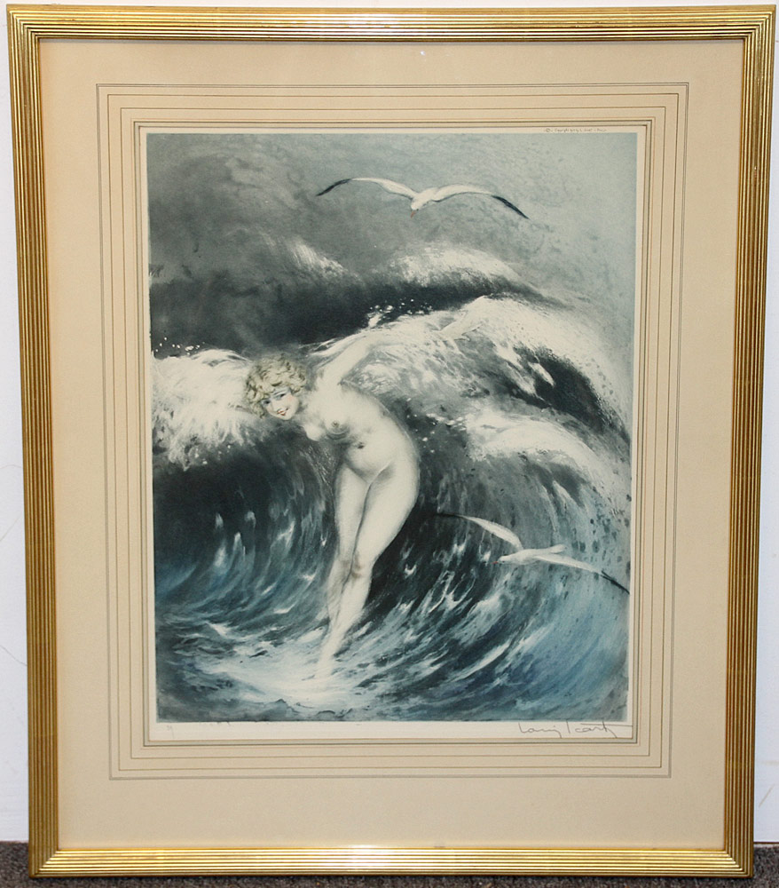 317. Louis Icart Color Etching, Venus in the Waves. $922.50