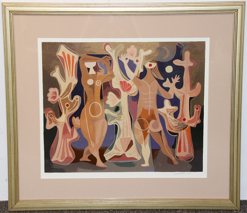 328. Mario Carreno Color Litho., Persouafis de Coral. $399.75