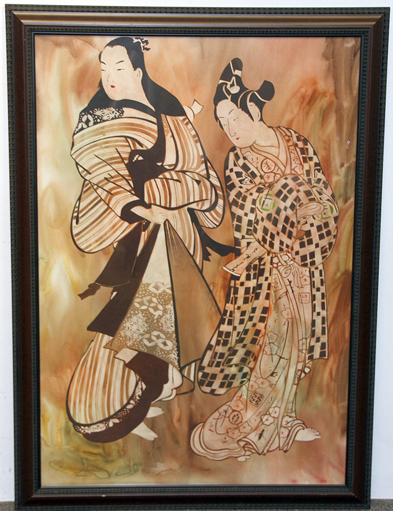 333. John Wissemann Watercolor on Paper, Two Women. $70.80