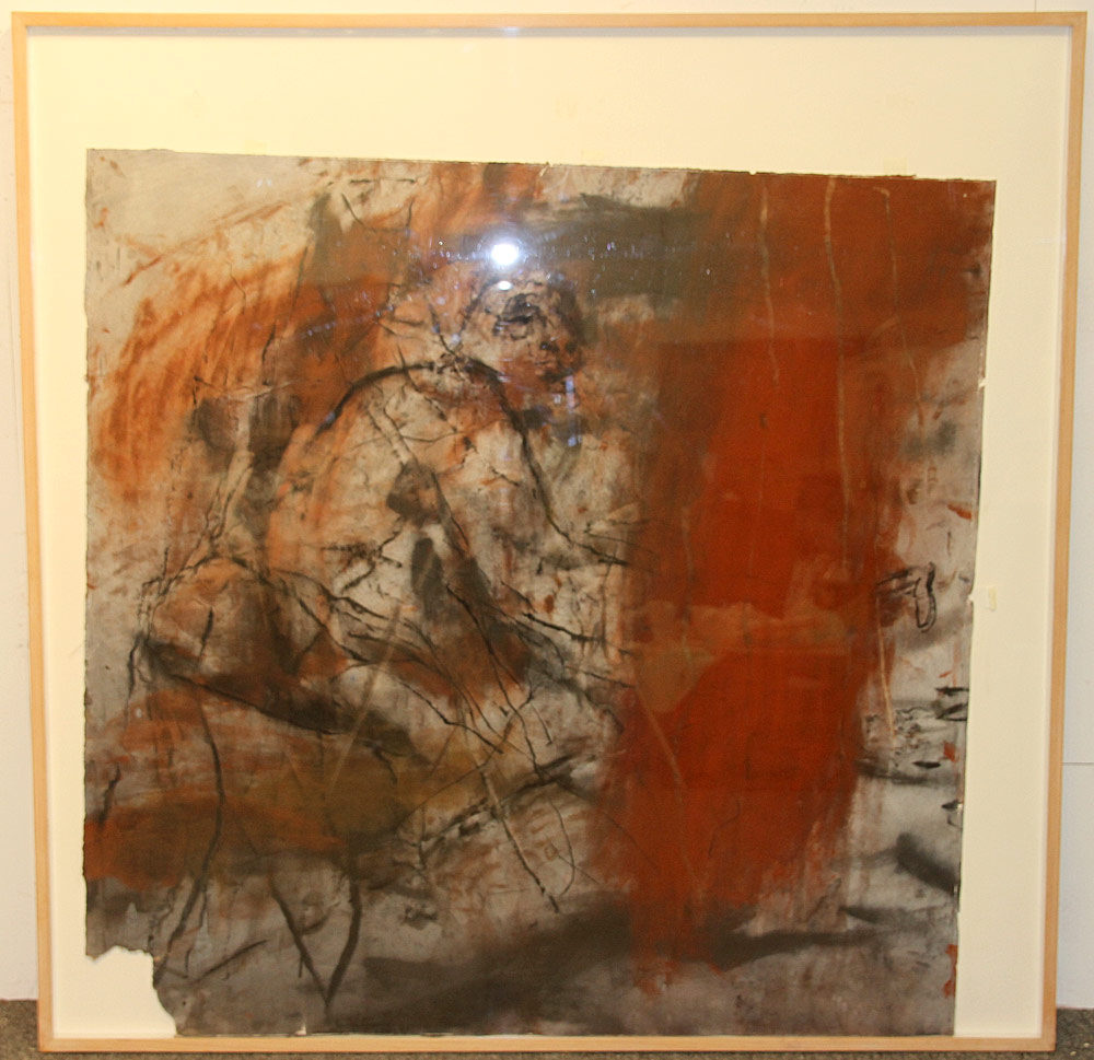 346. William Macilraith Charcoal/Pigments, Cloaked 1986. $413