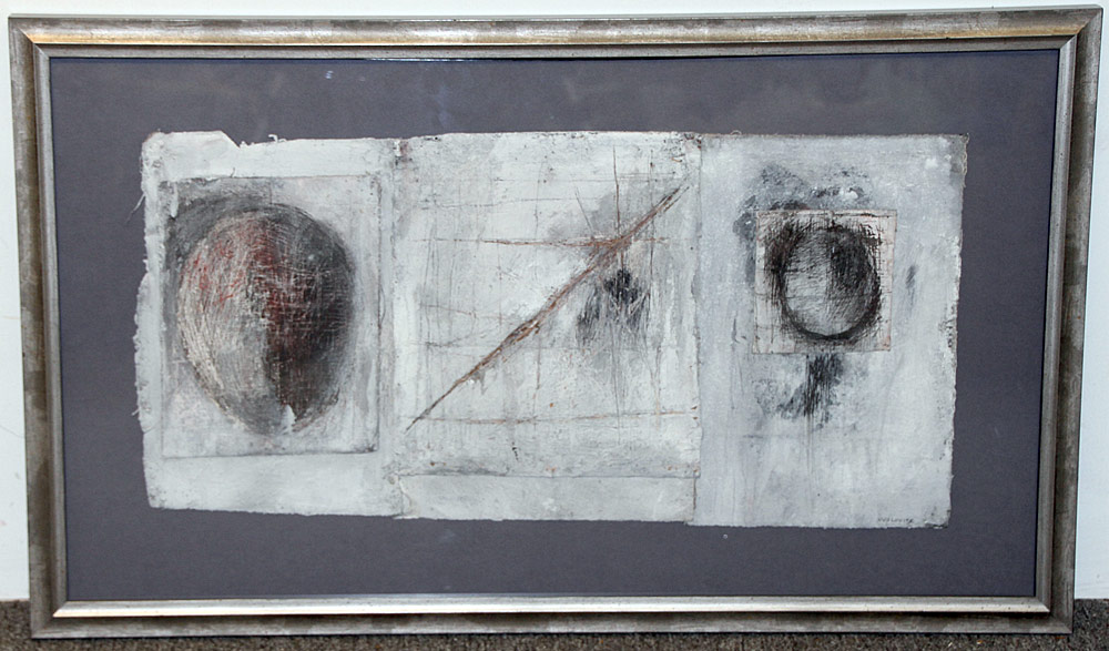347. Vivian Wolovitz Mixed-Media/Canvas, Abstract 1989. $184.50
