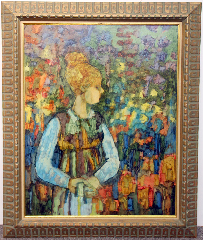 351. Donald Purdy Oil/Masonite, Portrait of a Woman. $184.50
