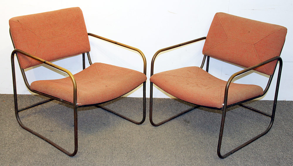 366. Two Kipp Stewart/Terra Furn. Tubular Patio Chairs. $246