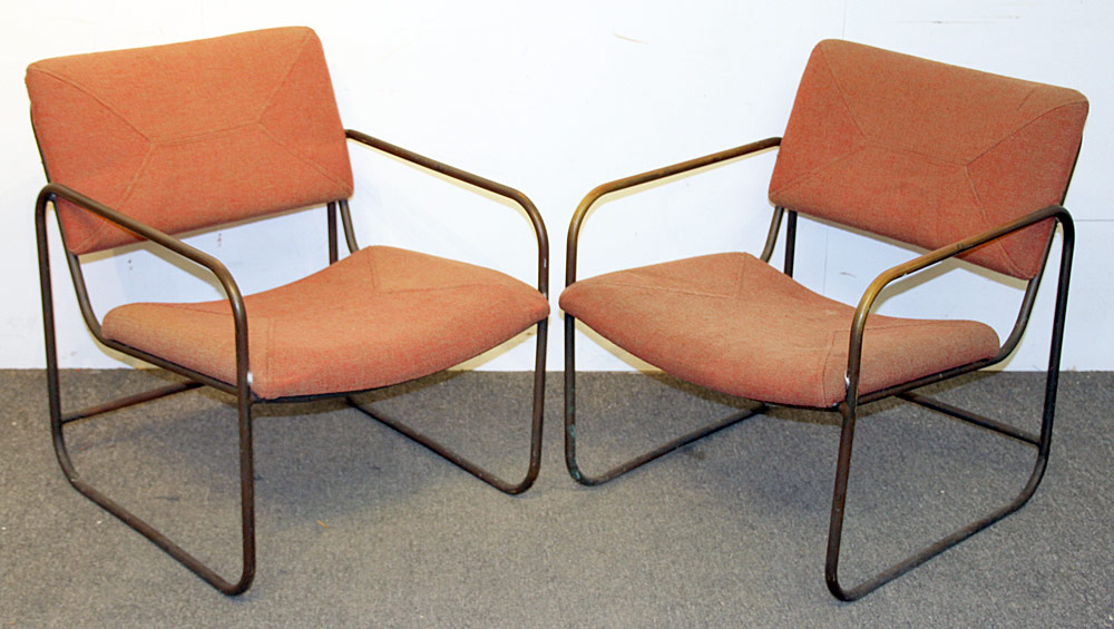 367. Two Kipp Stewart/Terra Furn. Tubular Patio Chairs. $246