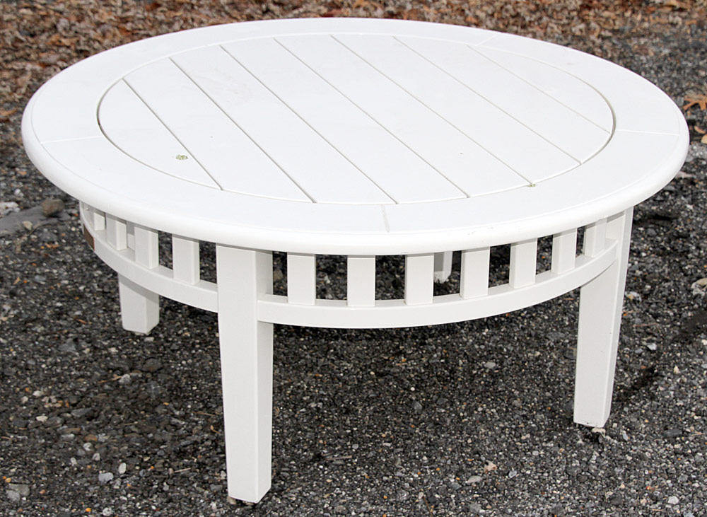 368B. Weatherend Patio Cocktail Table. $885