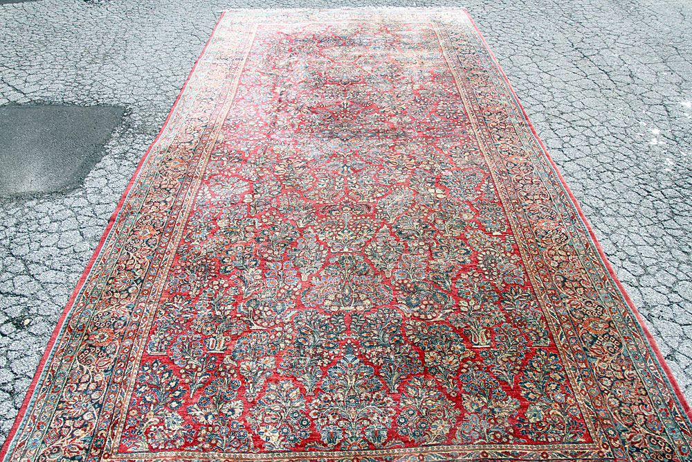 "369. Sarouk Room-Size Carpet, 22\' x 10\'2"". $922.50"