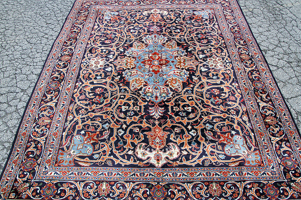 "372. Persian Mashad Room-size Carpet. 12\'9"" x 9\'9\"". $738"