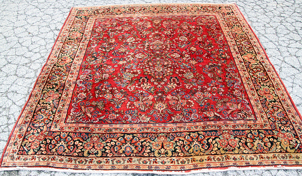 "380. Sarouk Area-size Carpet, 7\'9"" x 7\'2\"". $922.50"