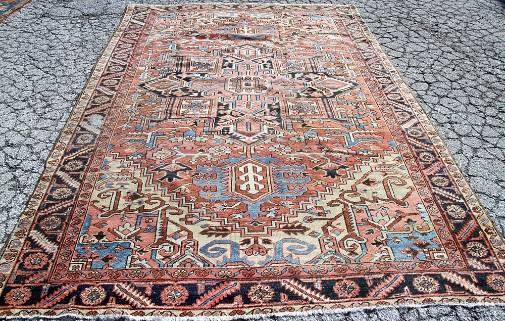 "381. Antique Heriz Room-size Carpet, 7\'11"" x 11\'10\"". $1,599"