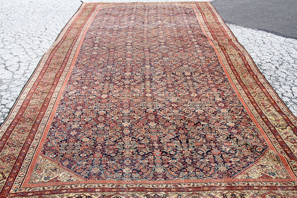 "382. Antique Persian Room-size Carpet, 19\'8"" x 8\'7\"". $1,888"