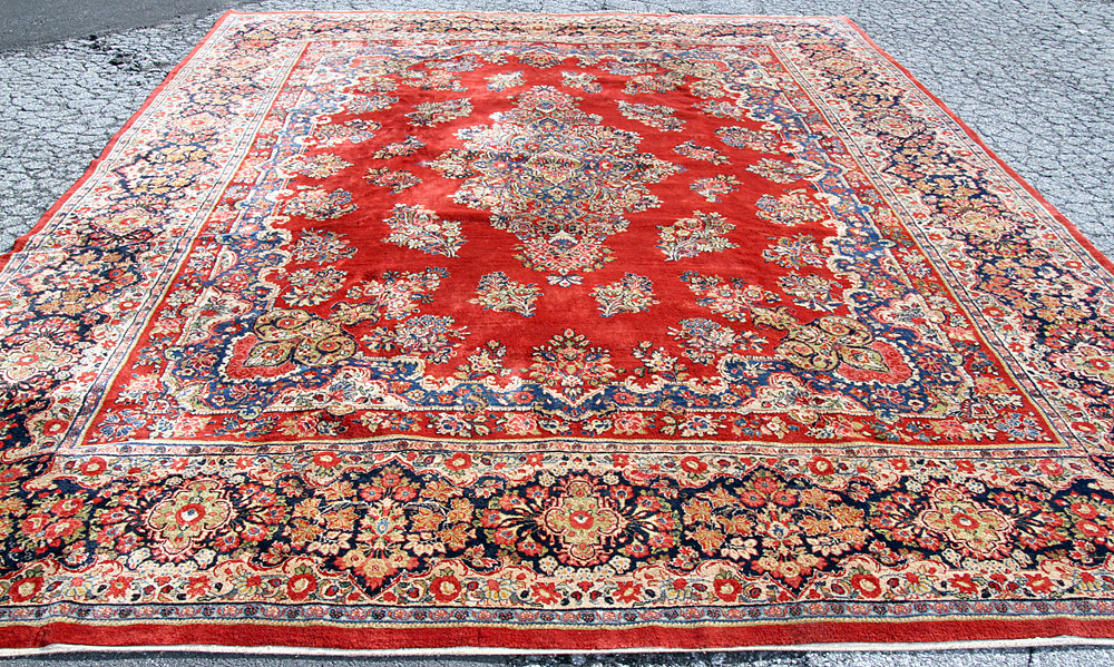 384. Sarouk Room-size Carpet, 16\' x 12\'. $1,121