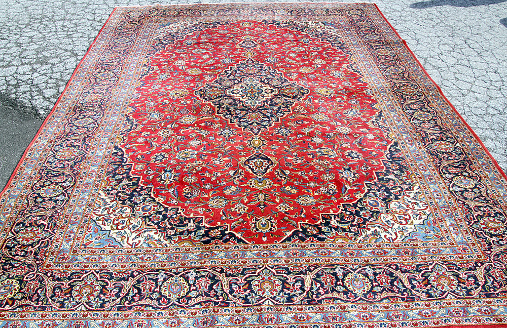 "387A. Oriental Room-size Carpet, 12\'4"" x 9\'2\"". $708"