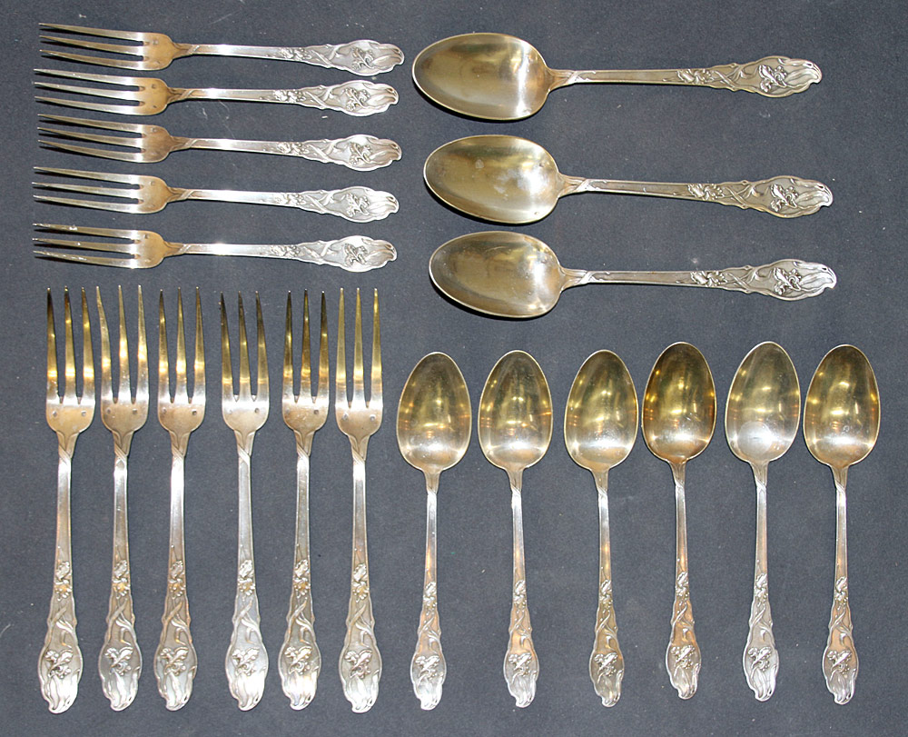 392. 20 Pcs. French Ravinet d\'Enfert Silver Flatware. $531
