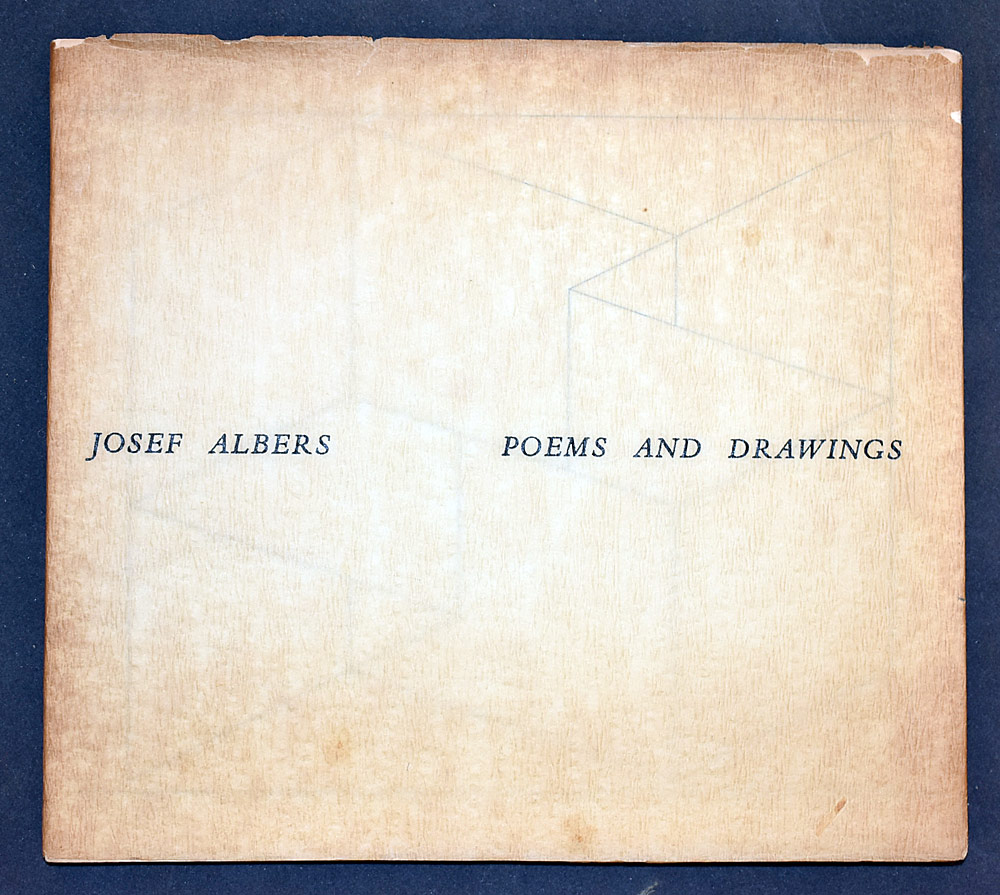 5. Josef Albers, Poems and Drawings. $430.50