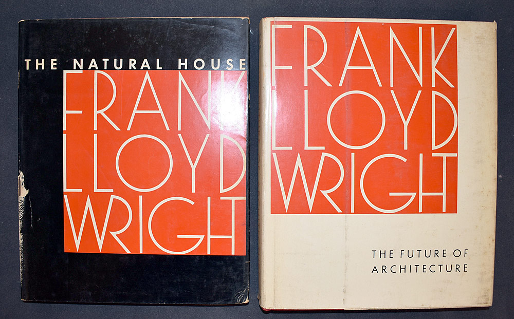 9. Two Books by Frank Lloyd Wright. $49.20