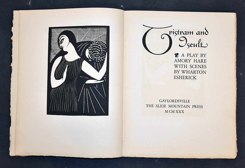 16. Wharton Esherick/Amory Hare, Tristram and Iseult. $215.25