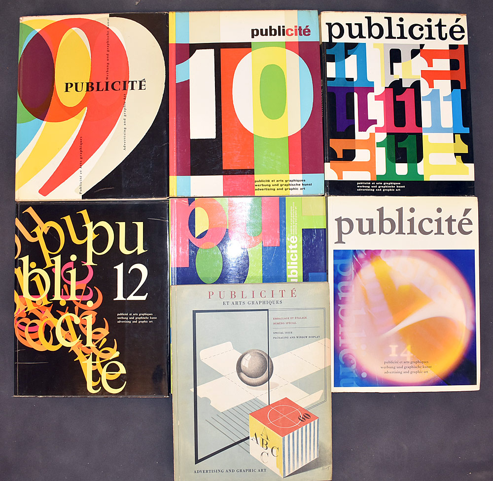 24. Six Volumes of Publicite, Advertising and Graphic Art. $110.70