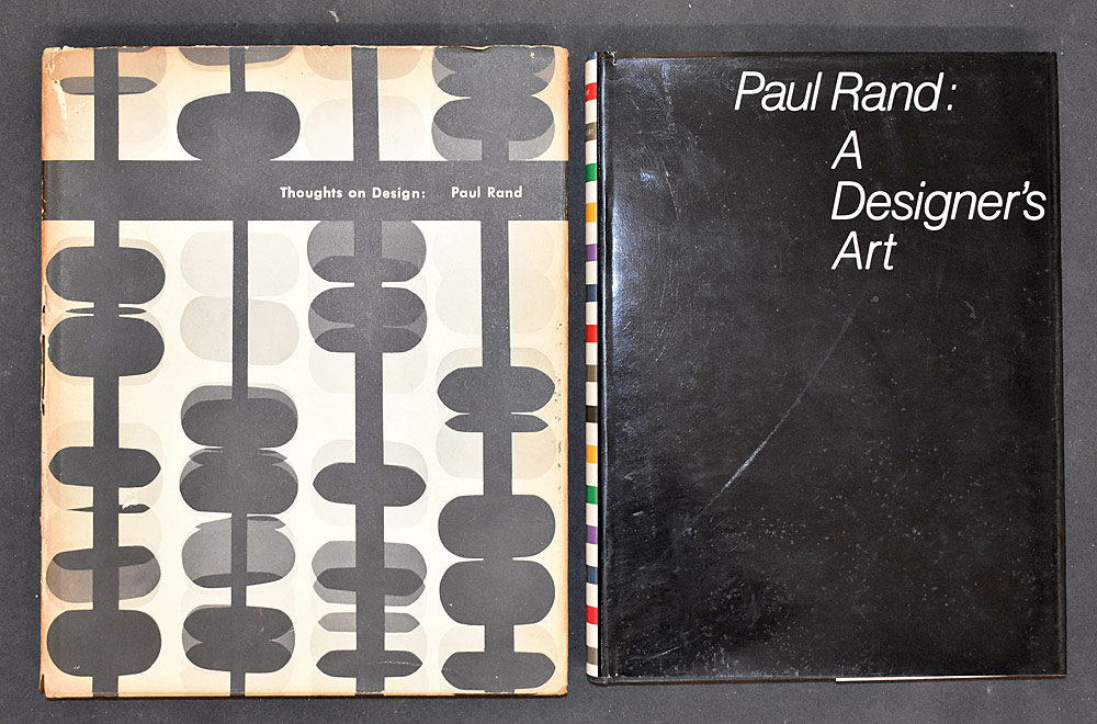 28. Two Paul Rand Design Books. $338.25
