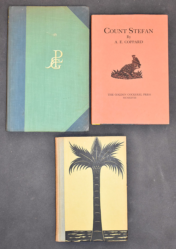 35. Three Books Engraved by Robert Gibbings. $24.60