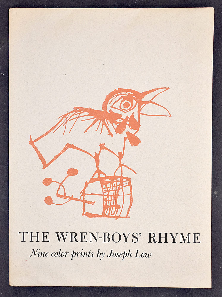 60. Joseph Low, The Wren-Boys\' Rhyme. $123.
