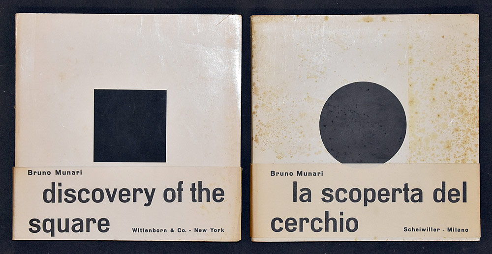 67. Two Bruno Munari Books. $184.50