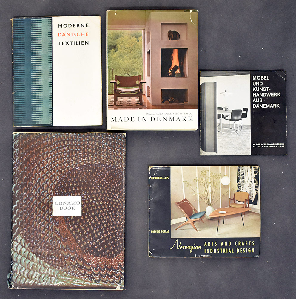 82. Five Books of Scandinavian Design.	$338.25