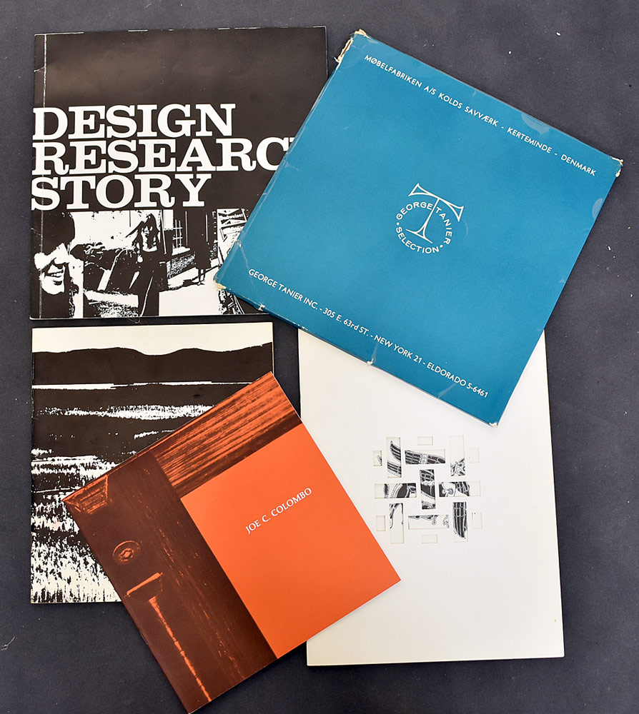 86. Five Pieces of Design Literature. $215.25