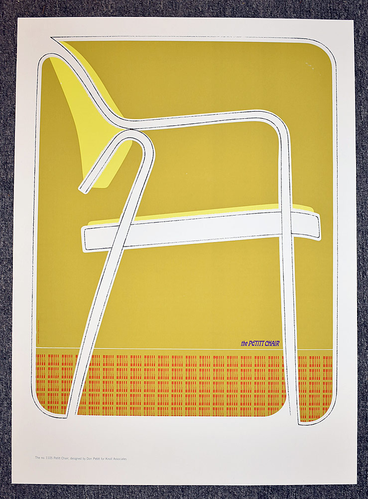 91. Knoll Petitt Chair Advertising Poster. $338.25